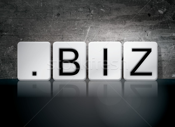 Dot Biz Tiled Letters Concept and Theme Stock photo © enterlinedesign