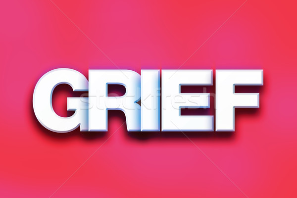 Grief Concept Colorful Word Art Stock photo © enterlinedesign