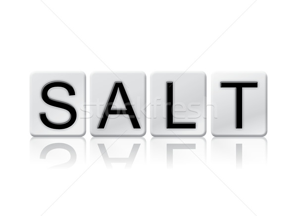 Salt Isolated Tiled Letters Concept and Theme Stock photo © enterlinedesign