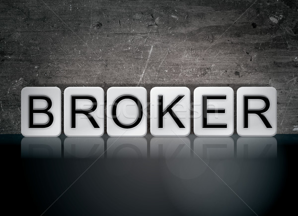 Broker Concept Tiled Word Stock photo © enterlinedesign