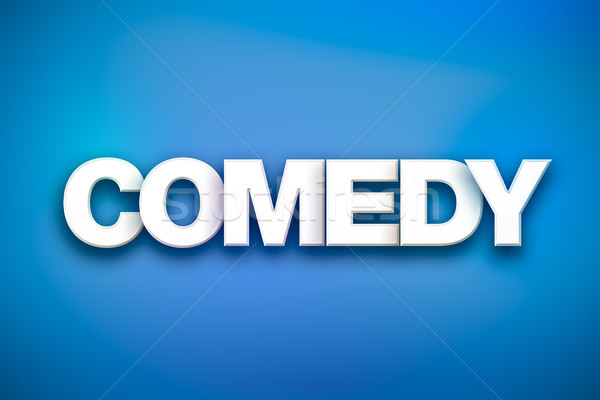 Comedy Theme Word Art on Colorful Background Stock photo © enterlinedesign