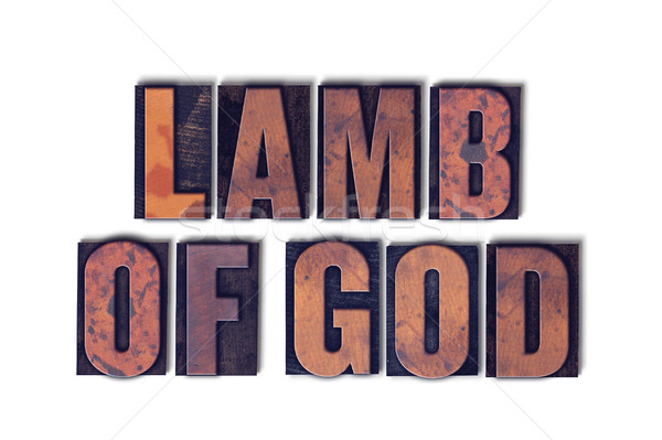 Lamb of God Concept Isolated Letterpress Word Stock photo © enterlinedesign
