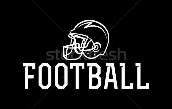 Amerykański piłka nożna kask ilustracja ikona wektora Zdjęcia stock © enterlinedesign