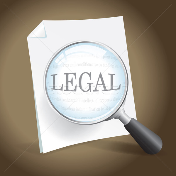 Examining a Legal Document Stock photo © enterlinedesign