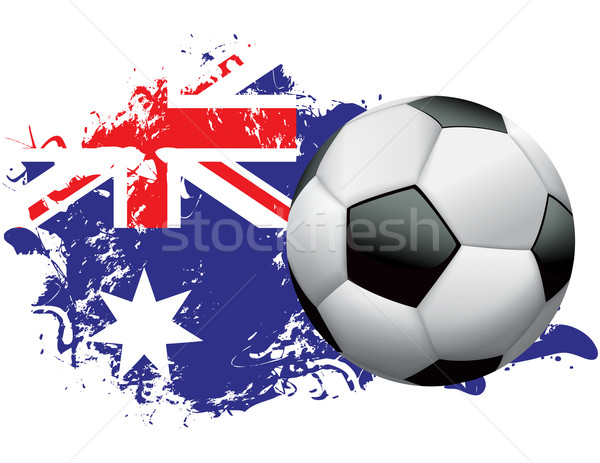 Australia Soccer Grunge Design Stock photo © enterlinedesign