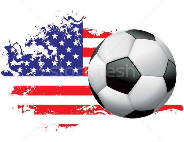 United States Soccer Grunge Design Stock photo © enterlinedesign