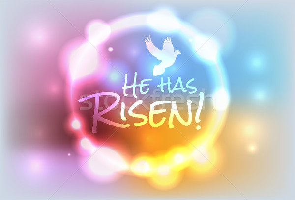 Christian Easter Risen Illustration Stock photo © enterlinedesign