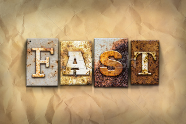 Fast Concept Rusted Metal Type Stock photo © enterlinedesign
