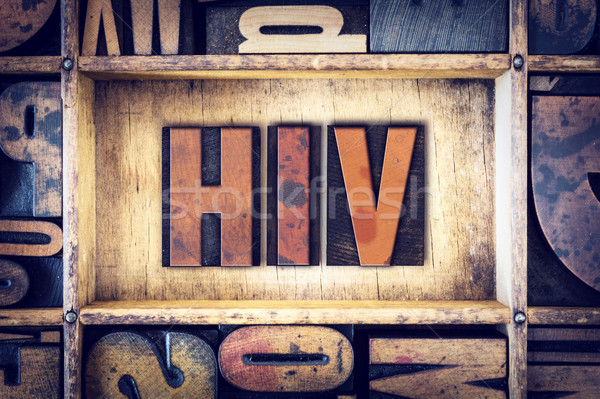 HIV Concept Letterpress Type Stock photo © enterlinedesign