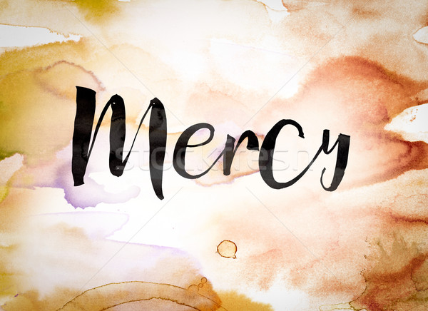 Mercy Concept Watercolor Theme Stock photo © enterlinedesign