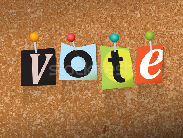 VOTE Pinned Paper Concept Illustration Stock photo © enterlinedesign