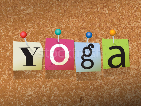 Yoga Pinned Paper Concept Illustration Stock photo © enterlinedesign