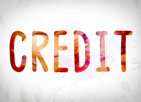 Credit Concept Watercolor Word Art Stock photo © enterlinedesign