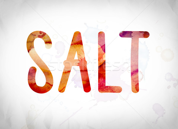 Salt Concept Watercolor Word Art Stock photo © enterlinedesign