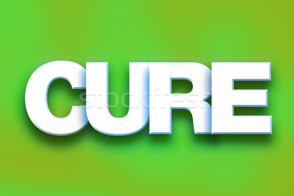 Cure Concept Colorful Word Art Stock photo © enterlinedesign