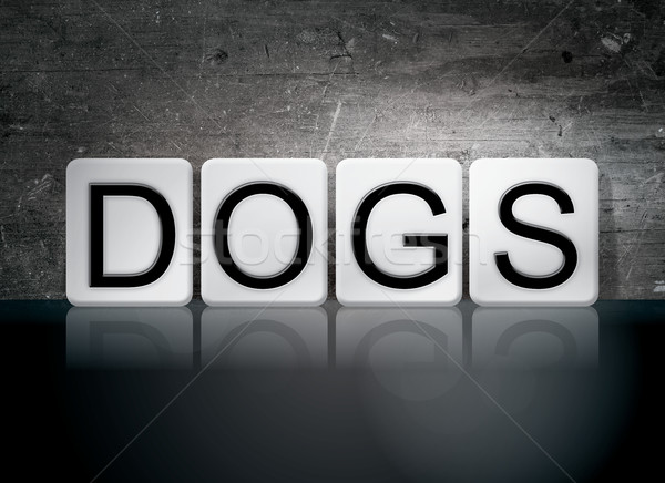Dogs Tiled Letters Concept and Theme Stock photo © enterlinedesign