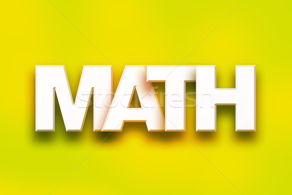 Matemáticas colorido palabra arte escrito blanco Foto stock © enterlinedesign