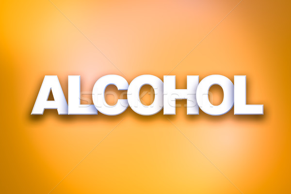 Alcohol Theme Word Art on Colorful Background Stock photo © enterlinedesign