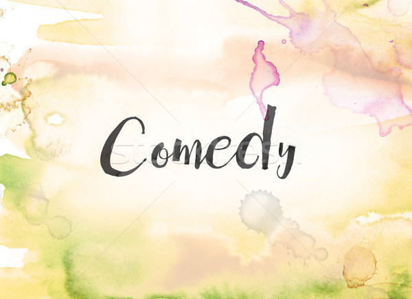 Comedy Concept Watercolor and Ink Painting Stock photo © enterlinedesign