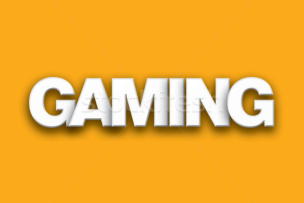 Gaming Theme Word Art on Colorful Background Stock photo © enterlinedesign
