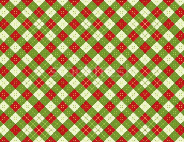 Christmas Holiday Argyle Background Pattern Illustration Stock photo © enterlinedesign