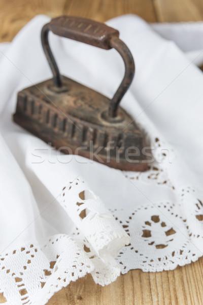 Old clothing iron Stock photo © Epitavi