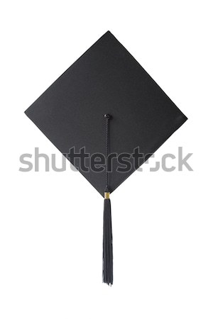 Graduation hat on white background Stock photo © Epitavi