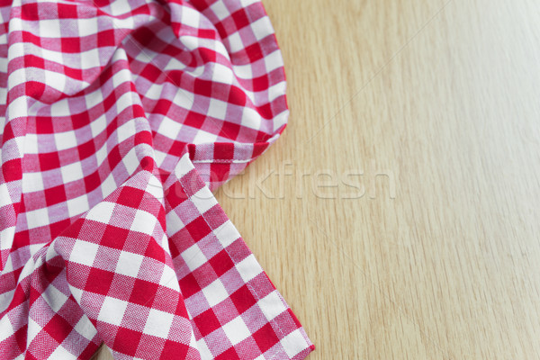 Nappe table en bois coton rouge blanche mensonges Photo stock © Epitavi