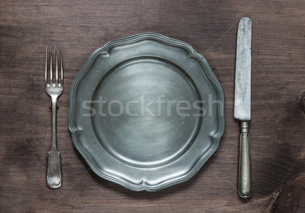Vintage metal tableware Stock photo © Epitavi