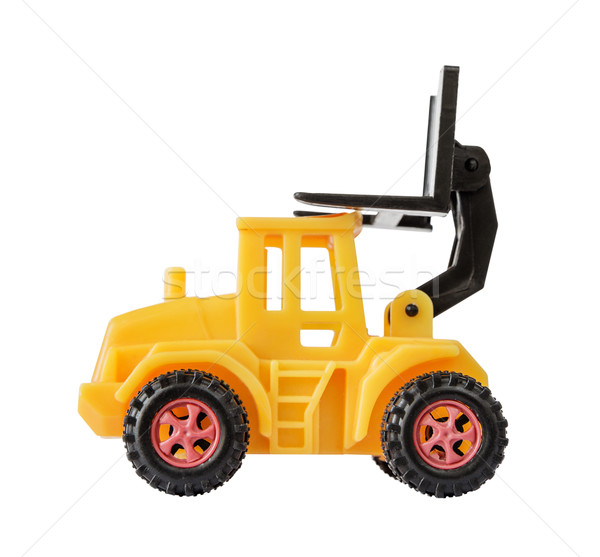 Yellow toy forklift Stock photo © Epitavi