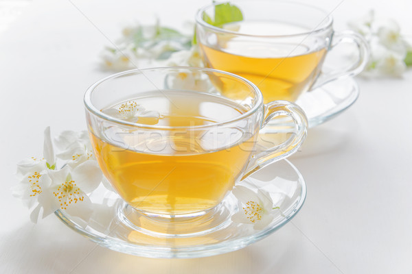 Green tea with jasmine Stock photo © Epitavi