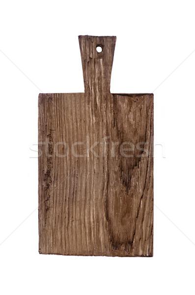 古い まな板 ラフ 暗い 木製 孤立した ストックフォト © Epitavi
