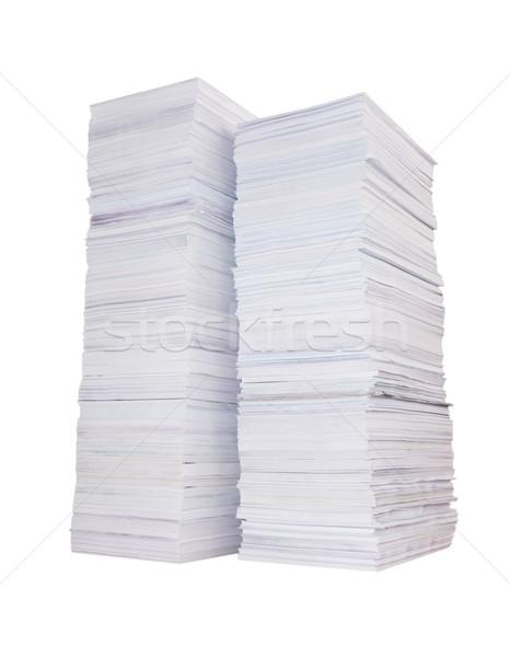 Two stacks of paper Stock photo © Epitavi