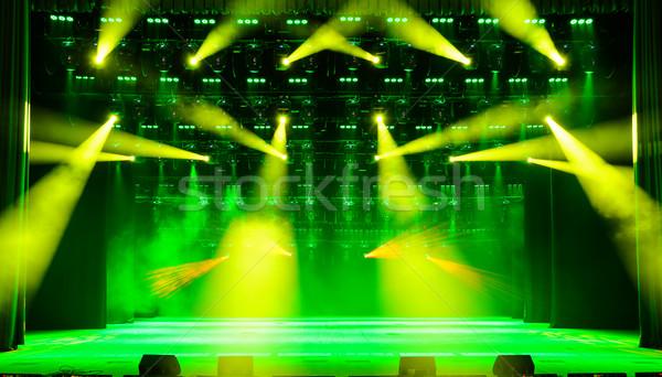 Stock photo: Illuminated concert stage