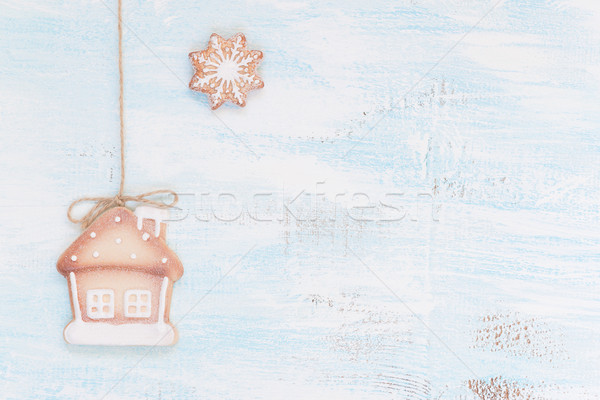 Christmas cookies on a wooden background Stock photo © Epitavi