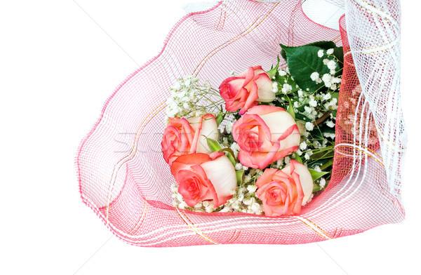 花束 バラ 美しい 赤いバラ 孤立した 白 ストックフォト © Epitavi