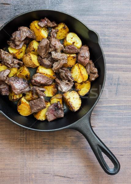 Roast meat with potato Stock photo © Epitavi
