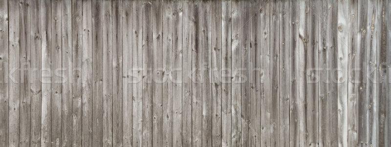 Long gray wooden fence Stock photo © Epitavi