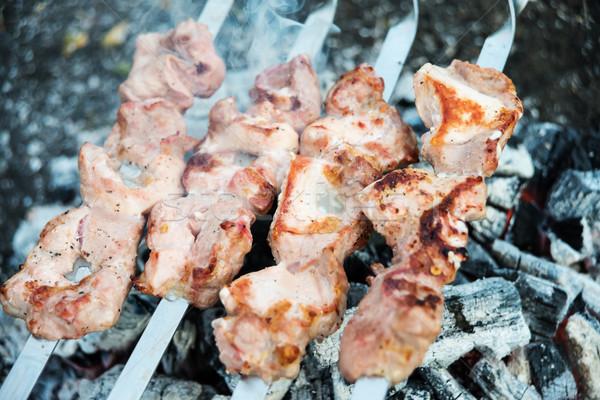 Meat is fried on coals Stock photo © Epitavi