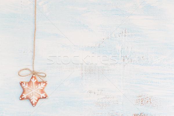 クリスマス ジンジャーブレッド クッキー パターン フォーム 雪 ストックフォト © Epitavi