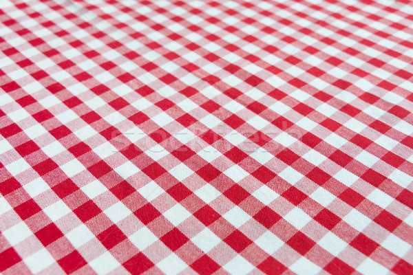 Checked red and white tablecloth Stock photo © Epitavi