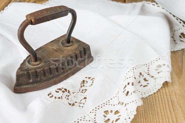 Contraste áspero velho roupa ferro Foto stock © Epitavi