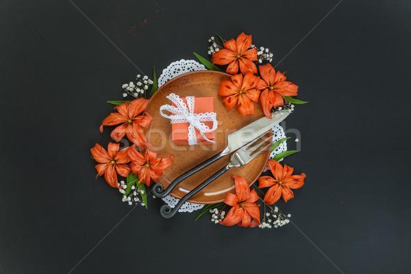 Festive table setting Stock photo © Epitavi
