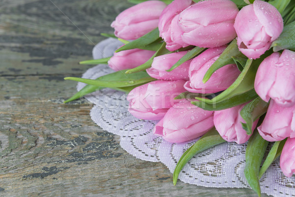 Pink tulips flowers Stock photo © Epitavi