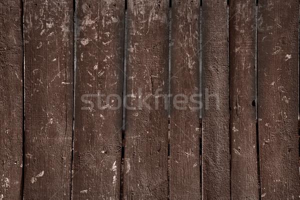 Haveloos houten hek oude bruin verticaal Stockfoto © Epitavi