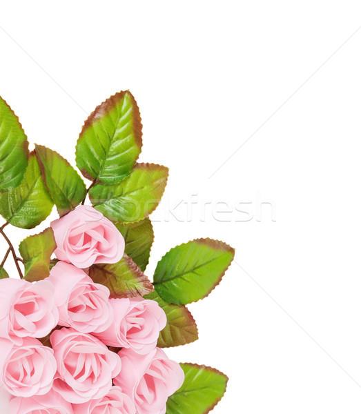 Artificial flores sabão rosa rosas folhas Foto stock © Epitavi