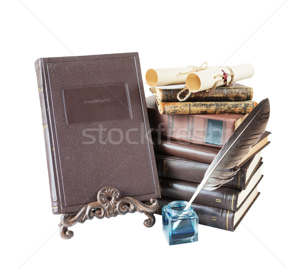 Composition with old books Stock photo © Epitavi