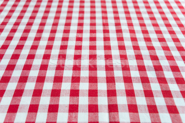 Rouge blanche nappe table perspectives vue Photo stock © Epitavi