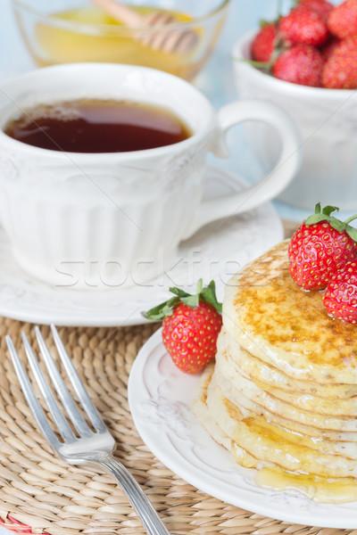Pancakes with honey Stock photo © Epitavi