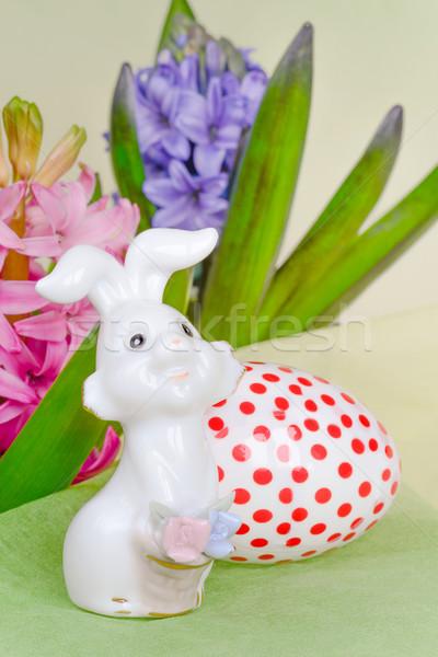 イースター ウサギ 卵 ピンク 青 花 ストックフォト © Epitavi